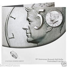 50th Anniversary Kennedy Half-Dollar Uncirculated Coin Set K14 In Hand Ship Now