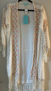 Melissa Odabash Designer Fringed Kaftan Brand New With Tags One Size Fits All
