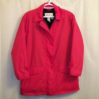 Eddie Bauer Jacket Women's XS Red Full Zip Snap Buttons Fleece Lined