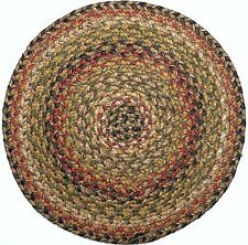 "Homespice Decor KINGSTON Braided Jute 15"" Round Placemat"