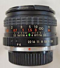 Saitex 28mm f2.8 Prime Lens Multi CoatedOptics Manual Focus Macro Pentax K Fit
