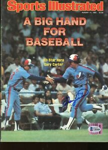 Gary Carter Expos HOF Signed Autographed Sports Illustrated Magazine BAS COA