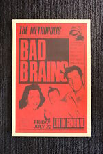 Bad Brains Tour Poster 1983 Seattle The Metropolis