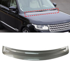 Glossy Gray Engine Hood Vent Trim Board For Land Rover Range Rover 2013-2017