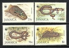 Jamaica Boa Constrictor on stamps wwf set mnh vf complete 66.00