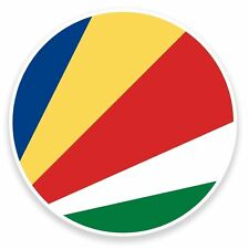 2 x Seychelles Flag Vinyl Sticker Travel Car Luggage #9139