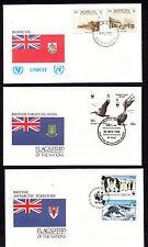 17939/ UNO Flaggen der Nationen - 3 Umschläge - Bermuda, Virgin Islands, British