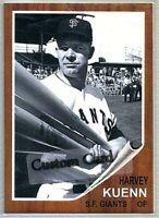 HARVEY KUENN SAN FRANCISCO GIANTS 1962 STYLE CUSTOM MADE BASEBALL CARD BLANK