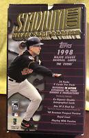 1998 Topps MLB Box w/ 24 Unopened Hobby Packs & Display Box