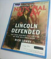 National Review Magazine 6/17/2013 Abraham Abe Lincoln Defended Near Mint issue