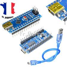 5PCS Nano V3.0 ATmega328P CH340G 5V 16M USB Micro Control Board Cable Arduino