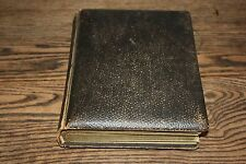 """Antique Album Leather with Old Photos PA 8.5"""" x 11"""" thick pages photo brown"""