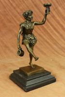 Wine God Lover Gift Art Elegant Male Nude Bacchus Sculpture Bronze Marble Statue