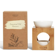 Essential Oil Burner Grove Collaborative Bamboo Stand Ceramic Bowl