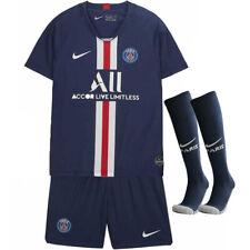 2018//19 Blue PSG Football Jersey Suit for 3-14 Yrs Kids Kit Soccer  Suit+Socks