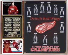 Detroit Red Wings 11-Time Stanley Cup Champions Photo Card Plaque