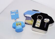 Man City Key Blank, Bottle Opener & Stress Keyring Gift Set -Ideal Football Gift