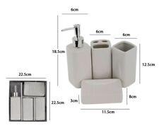 Set 4 Accessori Bagno Ceramica PortaSapone Porta Spazzolino Dispenser 16950 dfh