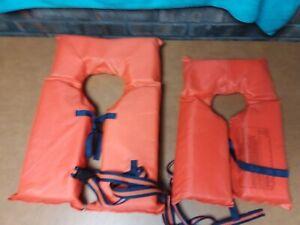 Life Jackets Vest Type II Orange Adult Universal Type 11 and Child Small Type 11