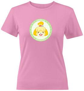 Isabelle Approved Pocket Camp Dog Cute Juniors Women Teen Tee T-Shirt S~2XL