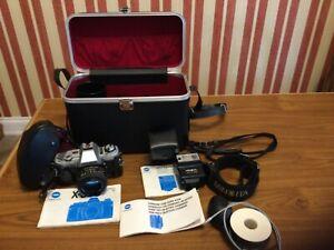 Vintage Minolta X-300 Camera with 50mm Lens & Auto Electroflash 118X etc!