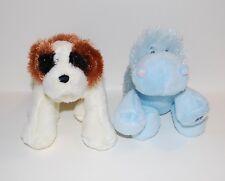 Two Ganz Lil' Webkinz – Blue hippo and Brown St. Bernard - No Codes