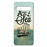 For Samsung Galaxy S10 PLUS Silicone Case Nautical Sea Quote Waves - S1062