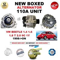 FOR VW BEETLE 1.4 1.6 1.8 T 2.0 9C 1Y 1998-ON NEW 110A ALTERNATOR UNIT