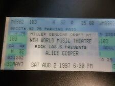 1997 ALICE COOPER CONCERT TICKET WORLD THEATRE CHICAGO GOOD CONDITION GH TOUR