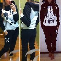 2pcs Women's Sport Tracksuits Hoodies Tops Ladies Casual Sweatpants Clothing Set