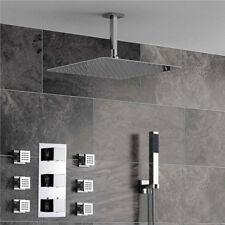 Thermostatic Mixing Mixer Valve Rainfall shower head set body jet massage spray