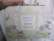 Paula Scaletta Vintage Mulit Color lunch box, storage box, purse, makeup case
