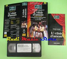 VHS Gaetano Donizetti L'ELISIR D'AMORE Pavarotti palco opera(CL3**) no cd dvd lp