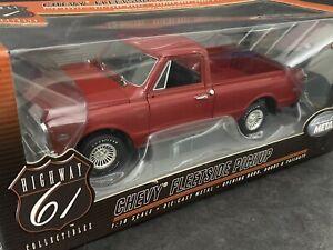 1967 Chevrolet C-10 Fleetside Pick Up Truck Burgundy Red 1/18 Highway 61 HTF !
