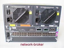 Switch Cisco Bundle ws-c4503-e + ws-x45-sup6l-e + ws-x4648-rj45v+e = 48 gigapoe +