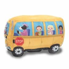 "NEW Cuddle Barn School Bus ""Wheelie"" Wheels on the Bus 8"" Animated Song Plush"