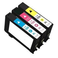3PK Compatible For Lexmark # 100XL CMY Ink 100 XL Prevail Pro705 Prospect Pro205