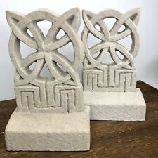Pair Forde Crafts Celtic Handmade Cast Stone Book Ends