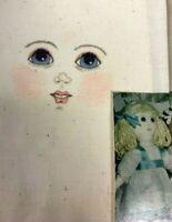 Rare- ANTIQUE RAG DOLL PATTERN PRIMITIVE hand painted cloth face Nancy Hanks