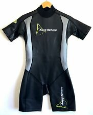 Aqua Sphere Aquaskin Mens Swimming Triathlon Spring Shorty Wetsuit Size Medium M