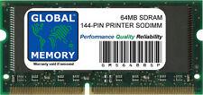 64MB SDRAM 144-PIN PRINTER RAM (ZMC64/A , 001339MIU , 001178MIU , 000829MIUL)