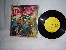"Vintage 1975 ""Star Trek 7"" 33 1/3 RPM Little LP Record ""In Vino Veritas"""