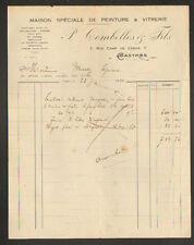 """CASTRES (81) PEINTURE & VITRERIE """"P. COMBELLES & Fils"""" en 1931"""