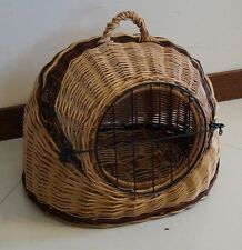 Wicker Pet Carrier Igloo  Dog, Cat, Rabbit, Natural HAND MADE XL
