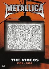 METALLICA: THE VIDEOS 1989-2004 DVD 25 VIDEO CLASSIC HITS COLLECTION NOT RATED