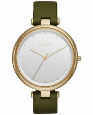 Skagen Women's Tanja Green Leather Strap Watch SKW2483 NEW IN BOX!!