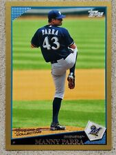 MANNY PARRA 2009 Topps GOLD Serial #ED /2009 Baseball Card 647 Milwaukee Brewers