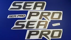 "SEA PRO boat Emblem 39"" chrome black + FREE FAST delivery DHL express"