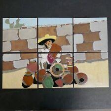 Lamosa 6-Tile Scenic Panel Vintage Mexico