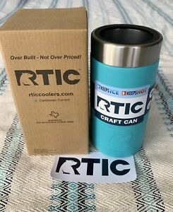 RTIC 16oz Caribbean Current 1288 - Beer Soda Can Cooler Koozie Stainless Steel